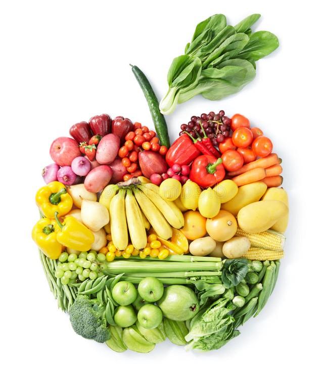 καρδία από φρούτα και λαχανικά